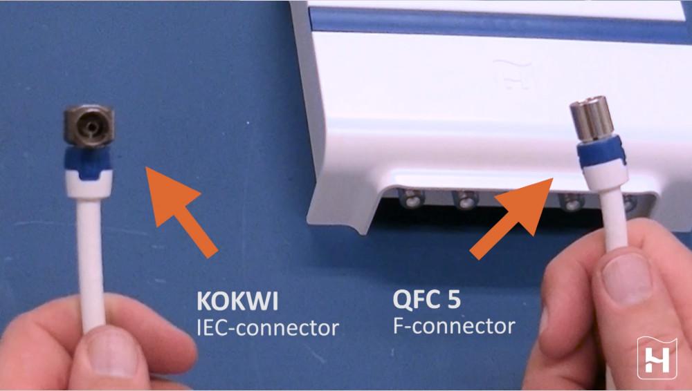 Bekijk hier de montagevideo hoe je de Hirschmann HMV41 antenne versterker op je juiste manier moet aansluiten
