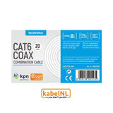 Technetix Cat 6 en coax combinatiekabel 20 meter