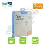 Technetix RLA ++ 21 4G coax aansluitkabel 5m Ziggo geschikt