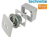 Technetix TRAS2000-S tweegats wandcontactdoos Ziggo geschikt 4G Proof