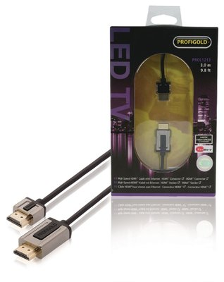Profigold High Speed HDMI kabel met ethernet 3 meter