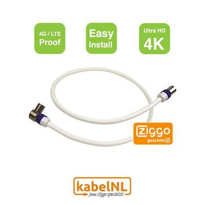 Aansluitkabel hoofdaansluiting - versterker | modem Ziggo 7.5m