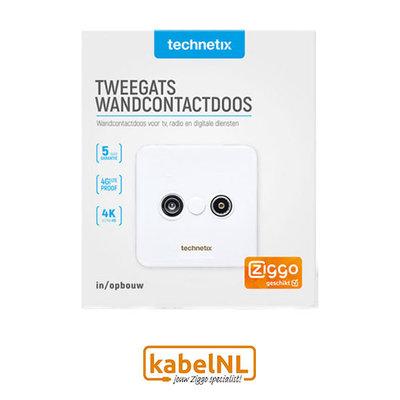 Technetix TRAS2000S wandcontactdoos Ziggo