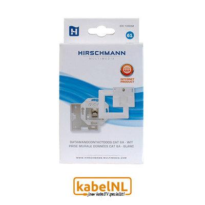 Hirschmann wandcontactdoos internet 1x RJ45 Cat6A Wit