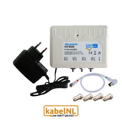 TV signaalversterker retourgeschikt OV-8420 Easy Install