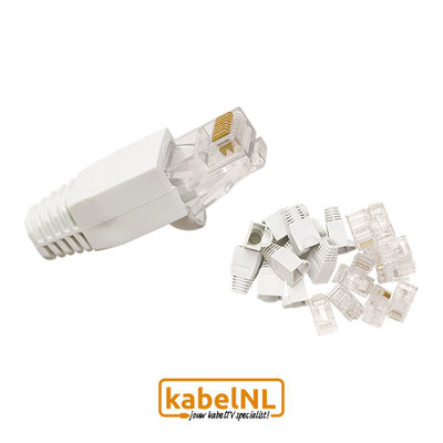 RJ45 Cat5E connectoren 10 stuks