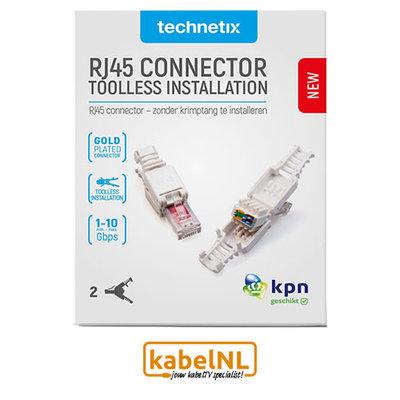Set van 2 Doe-Het-Zelf RJ45 connectoren voor CAT6