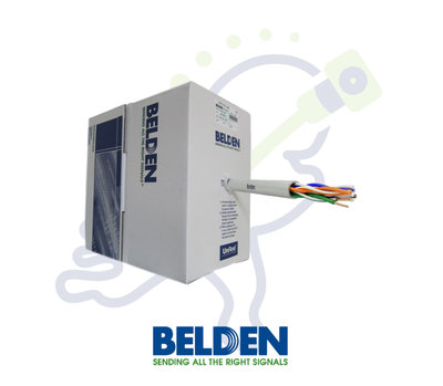 Belden 7965E UTP Cat6 netwerk kabel grijs trekdoos 305m