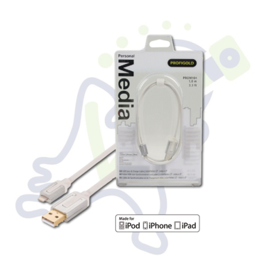 Profigold Apple Lightning USB data en oplaadkabel 1m