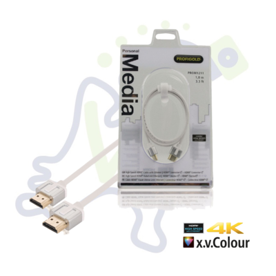 Profigold High Speed HDMI kabel met ethernet Wit 1 meter