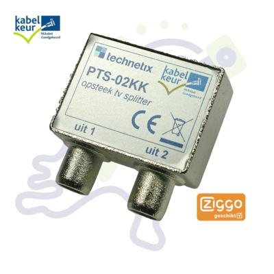 Technetix PTS-02 2-weg TV splitter KabelKeur