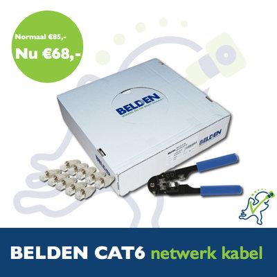 Actie! Belden 7965E UTP Cat6 netwerk kabel grijs 100m