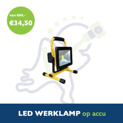 LED werklamp op accu 10W 4Ah
