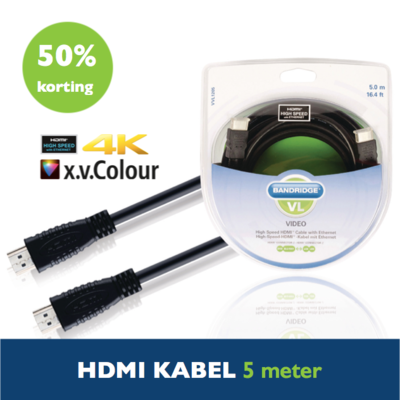 Actie! HDMI kabel high speed 4K Ultra HD 5m