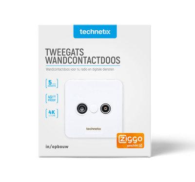 Technetix TRAS2000S  wandcontactdoos Ziggo geschikt 4G Proof