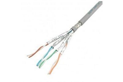 Belden S/FTP Cat6a netwerk kabel grijs 10m