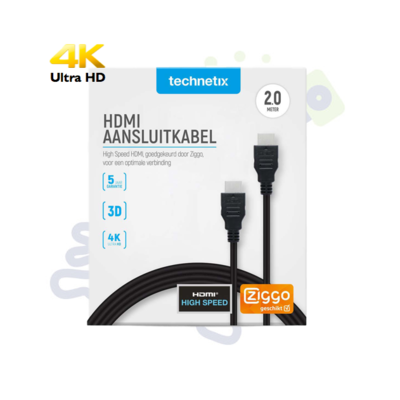 Technetix High Speed HDMI kabel Ziggo 2m
