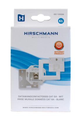 Hirschmann data wandcontactdoos Cat6A Wit