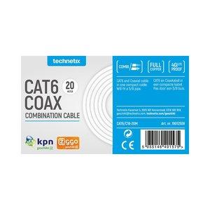 Technetix Cat 6 en coax combinatiekabel 20 meter