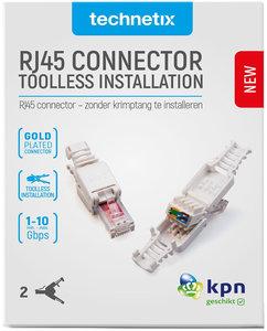 Set van 2 doe-het-zelf-RJ45 connectoren voor CAT6