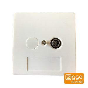 Braun Telecom BTV01-UPC Eengats wandcontactdoos Ziggo