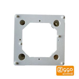 Opbouwrand voor eengats wandcontactdoos Ziggo