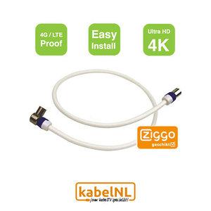 Aansluitkabel versterker - ontvanger Ziggo 1.5m