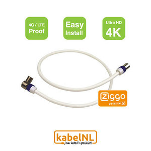 Aansluitkabel hoofdaansluiting - versterker | modem Ziggo 1m
