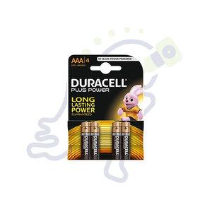 Duracell Plus Power AAA batterijen 4 stuks