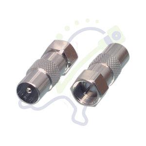 Verloop F-connector naar IEC male