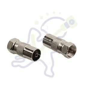 Verloop F-connector naar IEC female