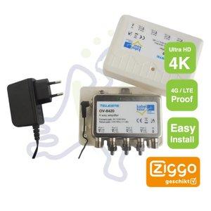 Teleste OV-8420 antenne versterker Ziggo gecertificeerd 4G Proof