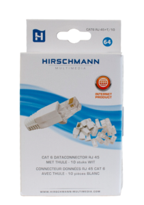 Hirschmann RJ45 Cat 6 connectoren 10 stuks
